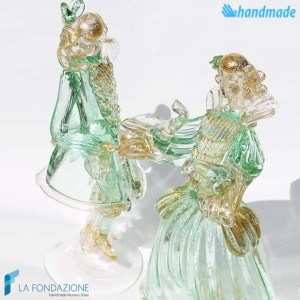 Lady and Knight couple made in Murano glass - SCUL002