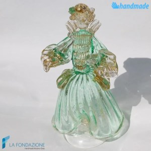 Venetian lady made in Murano glass - SCUL004