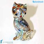 Gatto Murrina in vetro di Murano – SCUL014