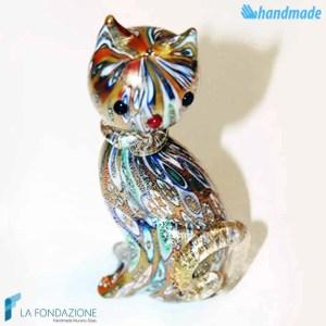Gatto Murrina in vetro di Murano - SCUL014