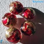 Perle Schisse Onda Rossa 16mm in vetro di Murano – PERLA002