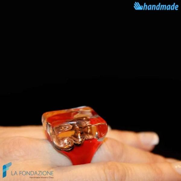 Anello Cubo Tre Vortici Rosso - RINGS0082