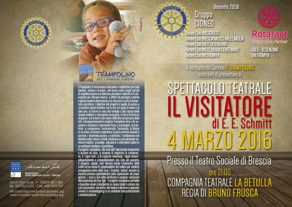 """Spettacolo Teatrale """"IL VISITATORE"""" del 4 Marzo 2016"""