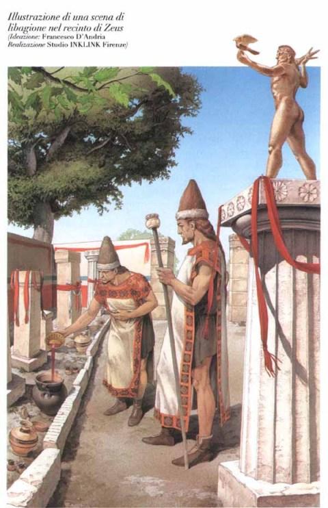 ricostruzione della collocazione della statua di Zeus