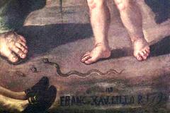 particolare-della-tela-settecentesca-raffigurante-san-paolo-e-il-tarantolato-dellartista-saverio-lillo1