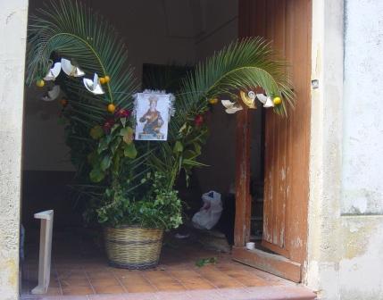 Spongano (Lecce). Una delle panare esposte in occasione della festa