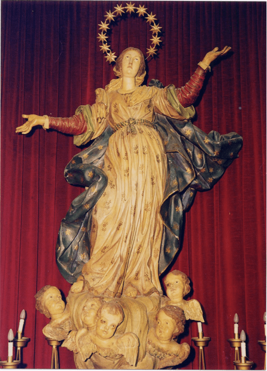 Nardò¦, Cattedrale, G. A. Colicci, Madonna Assunta, 1714, prima del restauro