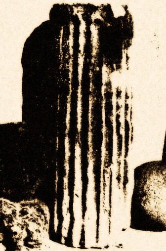 Fig.2 – Rocchio di colonna scoperto nella masseria S. Elia a le secare