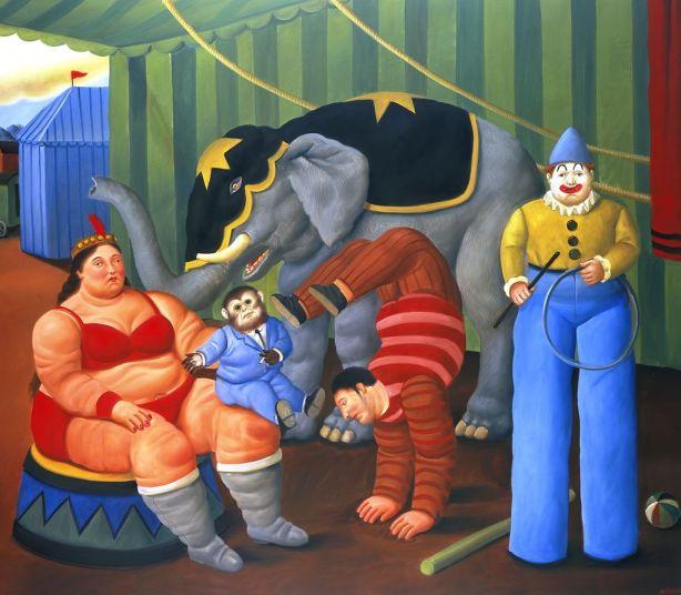 Botero, Gente del circo con elefante (2007)