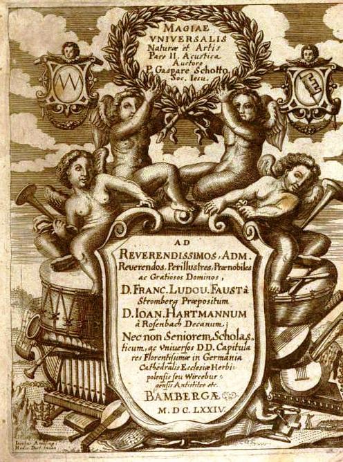 Frontespizio della Magia Universalis (1674)    del p. Gaspare Schotto
