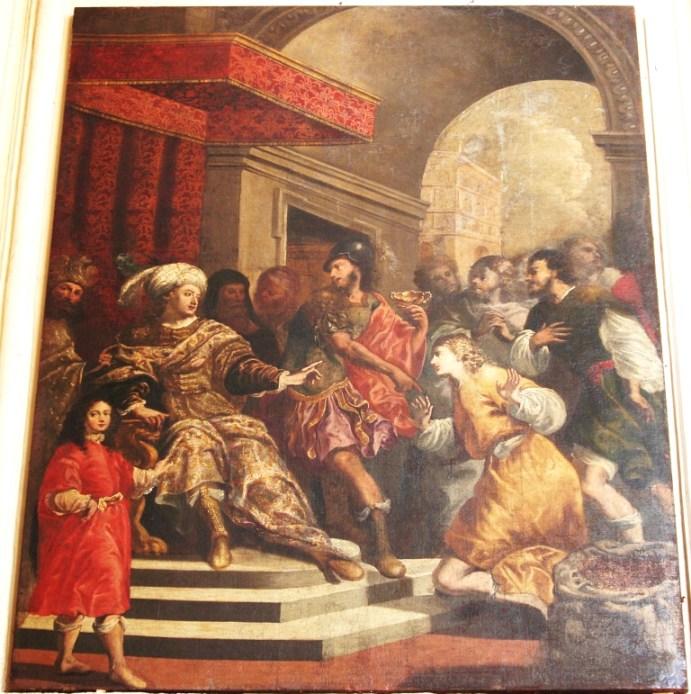 Fig.1. Lecce, chiesa del Gesù, Beniamino accusato del furto della coppa d'argento