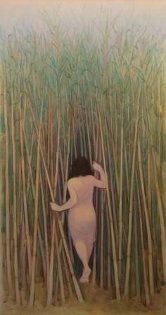Canneto 2 (olio su tela cm. 195 x 102