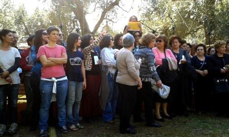 Il 25 aprile delle donne al parco dei Paduli a San Cassiano (Le)