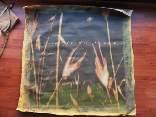 Gariga - notturno (tecnica mista su tela) 100 x 100