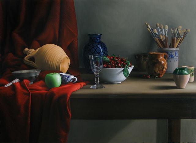 Ceramiche - 2006 - cm 80 x 100, olio su tela -