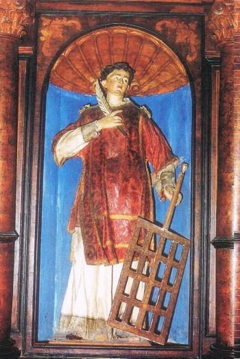 Manduria. Statua San Lorenzo (sec.XVIII)
