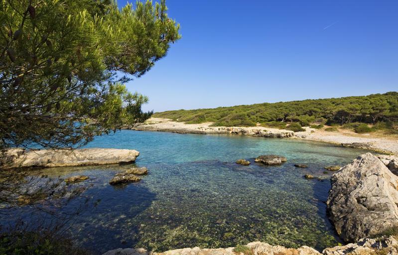 Italy, Apulia, Salento, Porto Selvaggio natural reserve, the bay