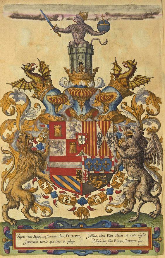 Fig. 10. Stemma di Filippo II, dal Theatrum Orbis Terrarum di Abraham Ortelius (1603).