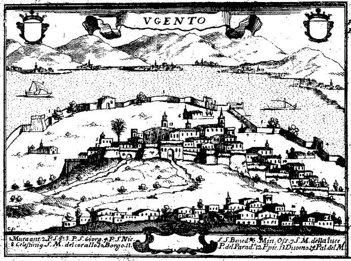 Ugento e dintorni  in una carta del XVI secolo
