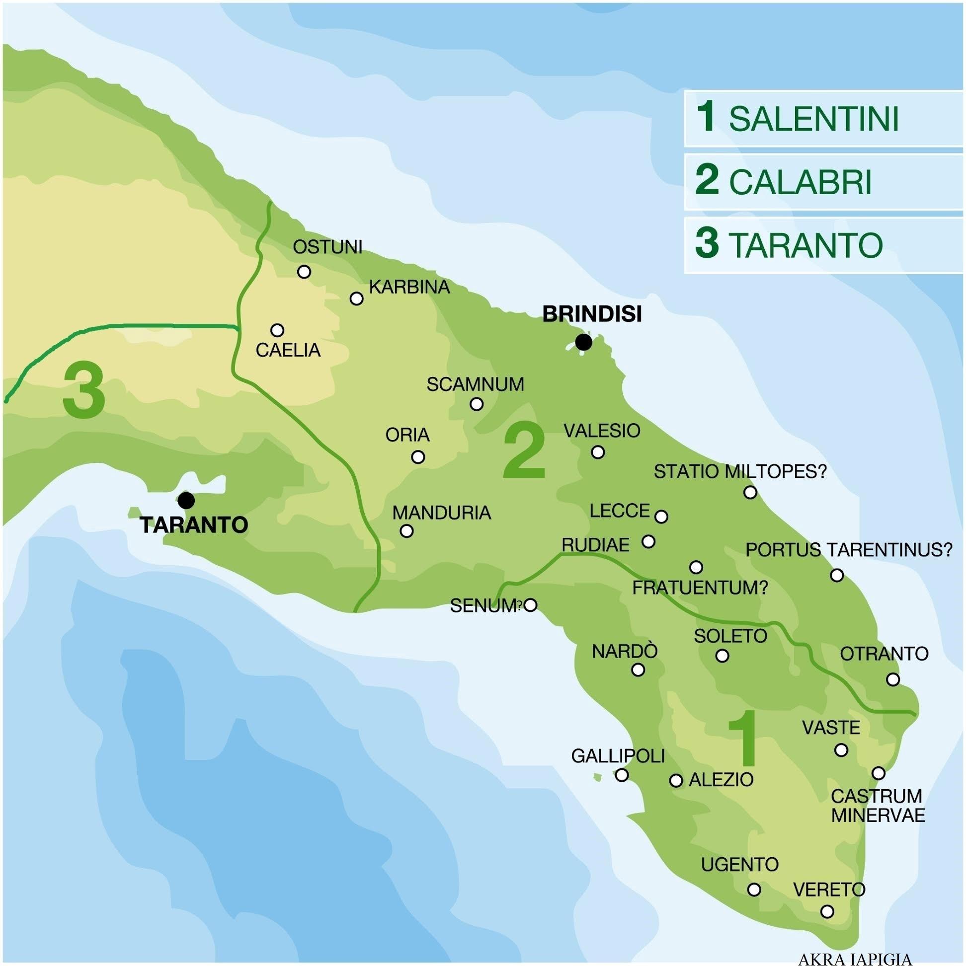La penisola salentina nelle fonti narrative antiche