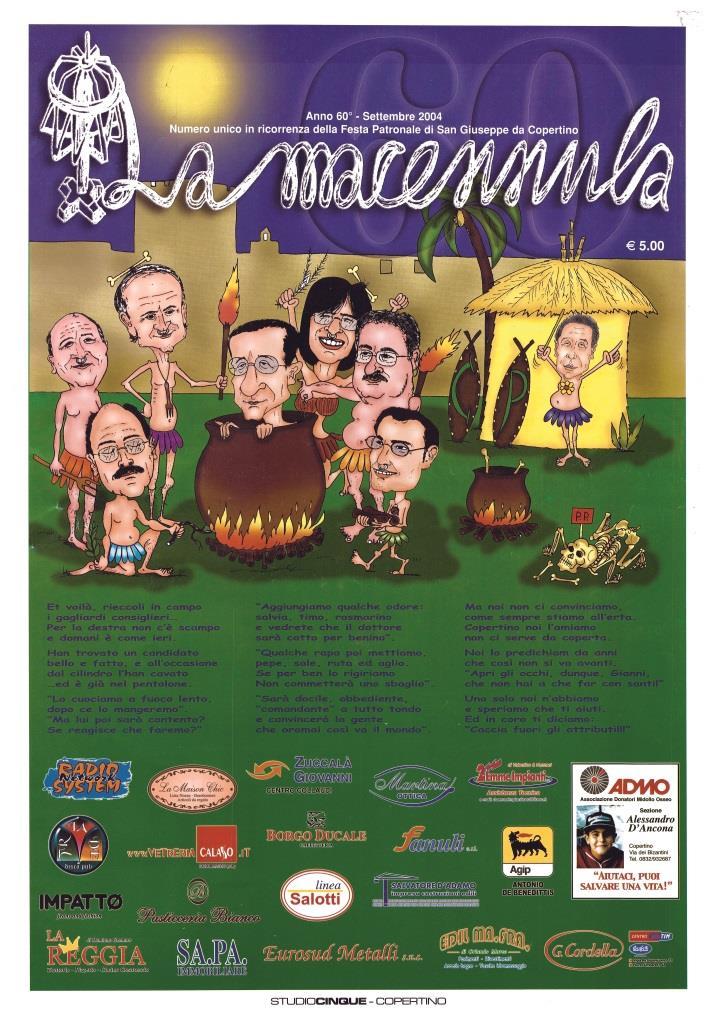 La Macennula, 75 anni di satira e umorismo a Copertino