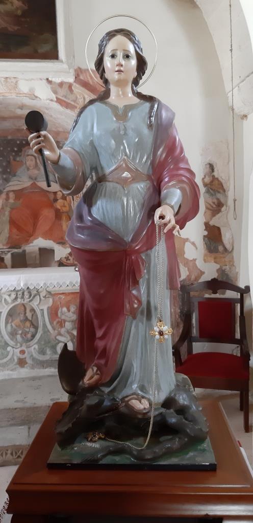 Un caso emblematico: la statua di Santa Marina a Muro Leccese