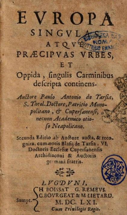 La terra d'Otranto del XVII secolo nei versi di un autore coevo