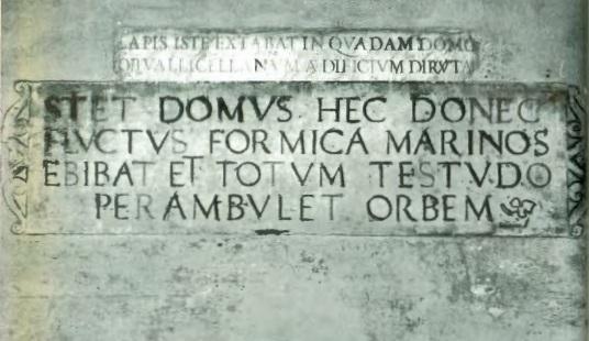 Melpignano: due epigrafi del palazzo marchesale