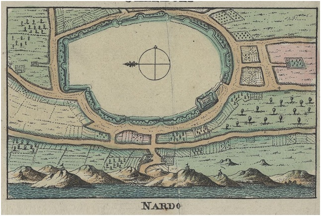 Gallipoli, Nardò e Taranto, tre città fortificate in altrettante mappe del XVII secolo