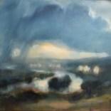 Ciel d'orage sur les bords de Seine, Jérôme Delépine 2020, 10 F46x 55 cm #03