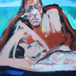 Le couple aux trois baigneurs, Serge Labégorre 2020, Format 70 100x140 cm Détail at#06