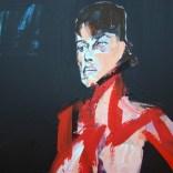 Nu féminin fond noir et vert, Serge Labégorre 2020, format 70 140x100 cm Détail at#12