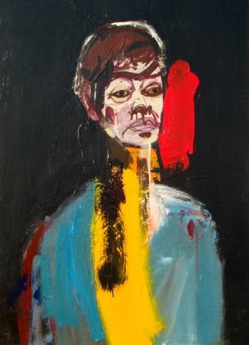 Colette D, Serge Labégorre 1980 _ 92x73 cm 30F Acrylique sur bois