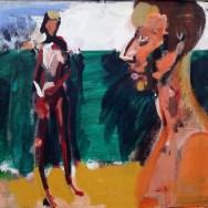 Couple à Hossegor_Labegorre 2010_60x80 2cm 5P acrylique sur toile