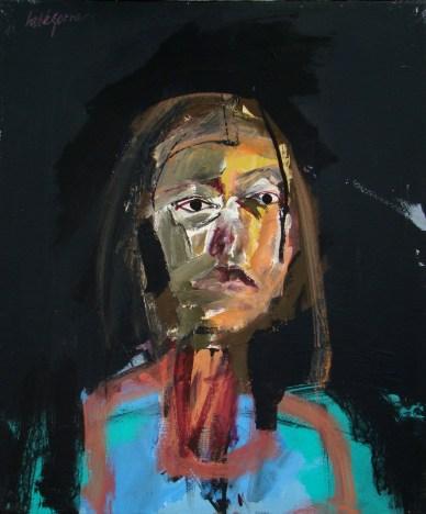 Demoiselle, Serge Labegorre 2010_55x46 cm 10F acrylique sur toile
