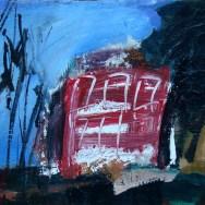 La maison rouge, Sege Labégorre 2004 _ 38x55 cm acrylique sur toile