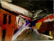 La route, Serge Labégorre 2011_50x65 cm 15P acrylique sur toile