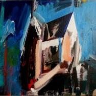 La villa de Bon papa, Serge Labégorre 2013 _ 60x73 cm 20 F acrylique sur toile