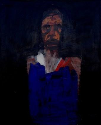 Portrait d'homme, Serge Labégorre 2007_100x81 cm 40F acrylique sur toile