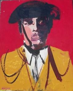 Sans titre ou Juan L, Serge Labégorre 1996, 65x54 cm 15 Figure Acrylique sur toile