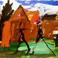 Vers Varangeville, Serge Labégorre 1978_50x65cm 15P acrylique sur toile
