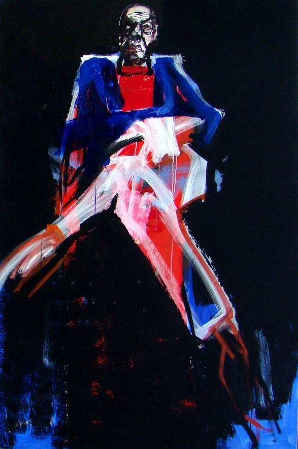 Vieil homme au canape - 2015 Serge Labegorre 195x130 cm Acrylique sur toile