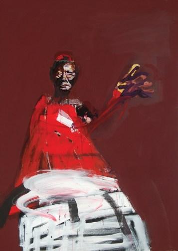 pape-bénissant-2009-Serge-Labégorre-195x130-acryl-sur-toile