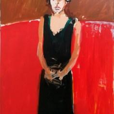 300_Andréa, robe noire, Labégorre 2016_146x114 cm 80F at#02