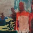 Baignade en famille, Serge Labégorre 1982, 54x80 cm 25M ab#05