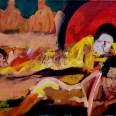 Baigneuses, étude_Labégorre 2009_46x55 cm 10F acrylique sur toile w