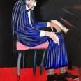 Etude pour un portrait de Pierre B, dit Le pianiste, Serge Labégorre 2019, 195 x130 cm at #01