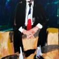 Etude pour un portrait de l'écrivain BP, Serge Labegorre 2015, 1195x130 cm 120F at#02