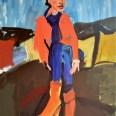 Madame Baron 1, Serge Labégorre 2019, 140 x 100 cm 70 at#01