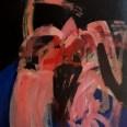 Nu frontal aux bras levés, Serge Labégorre 2002, 146 x 114 cm 80F at#01